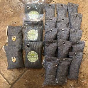 NWOT 20 charcoal bamboo bags